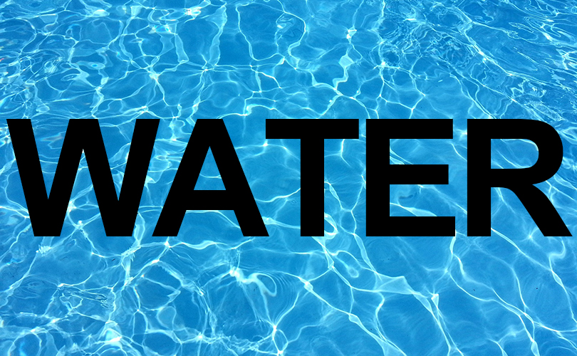 A water image with text