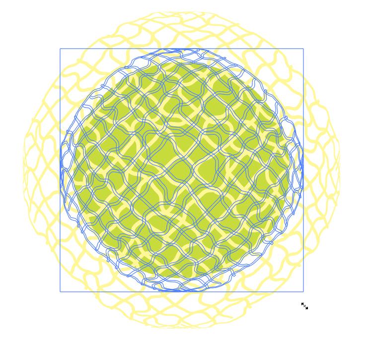 円形に模様を合わせる
