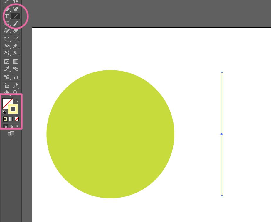 直線ツールで線を描画