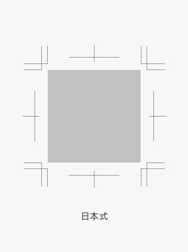 Japanese style Trim Marks