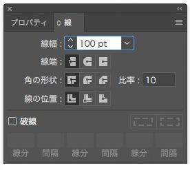 Stroke Panel / Stroke Weight: 100pt