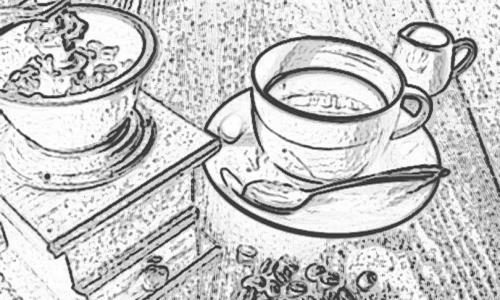 手描き風のコーヒーの画像