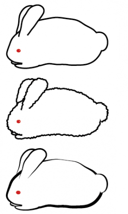 Illustration of a rabbit with Roughen applied