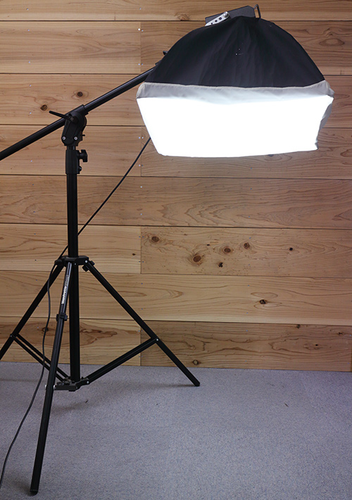 Softbox and boom stand