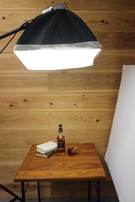 Lighting for objects such as liquor bottles and books