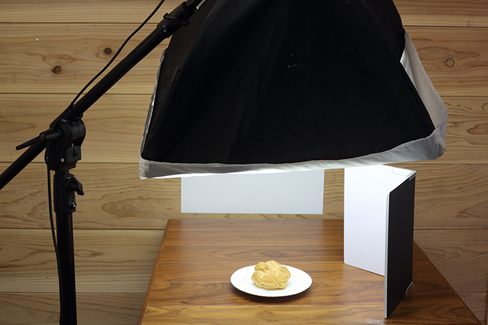 Lighting with softboxes (direct lighting)