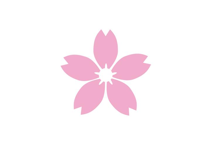 白く抜かれた花