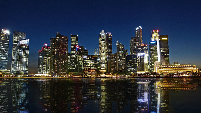 Photo of night view in Singapore
