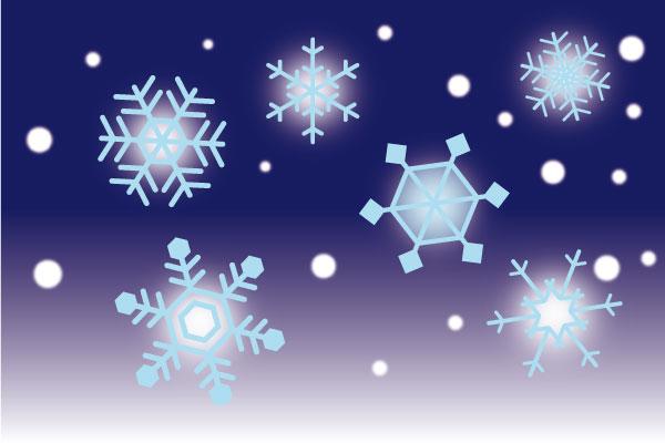 雪の結晶完成例